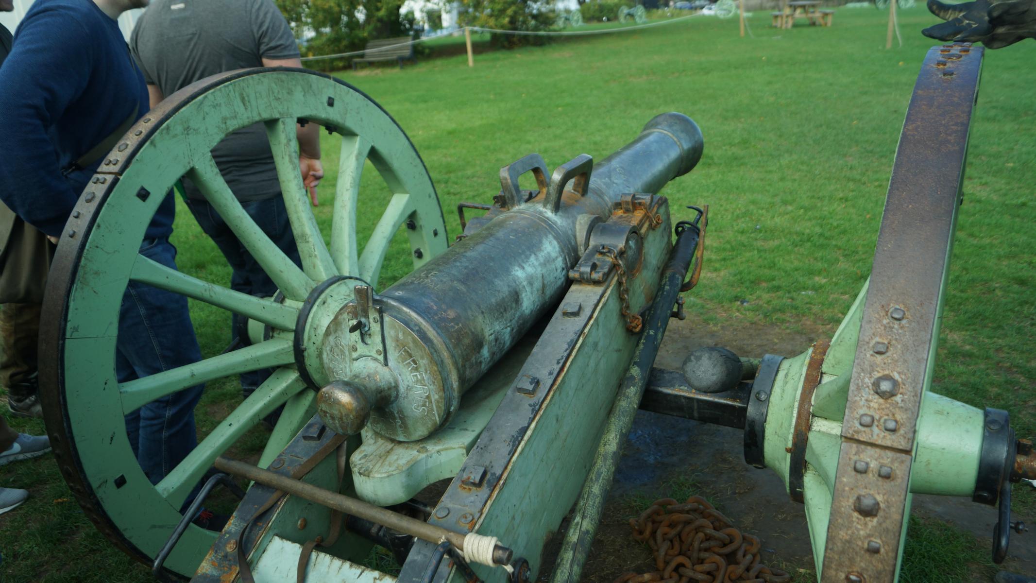 Historische Vorführung napoleonischer Artillerie