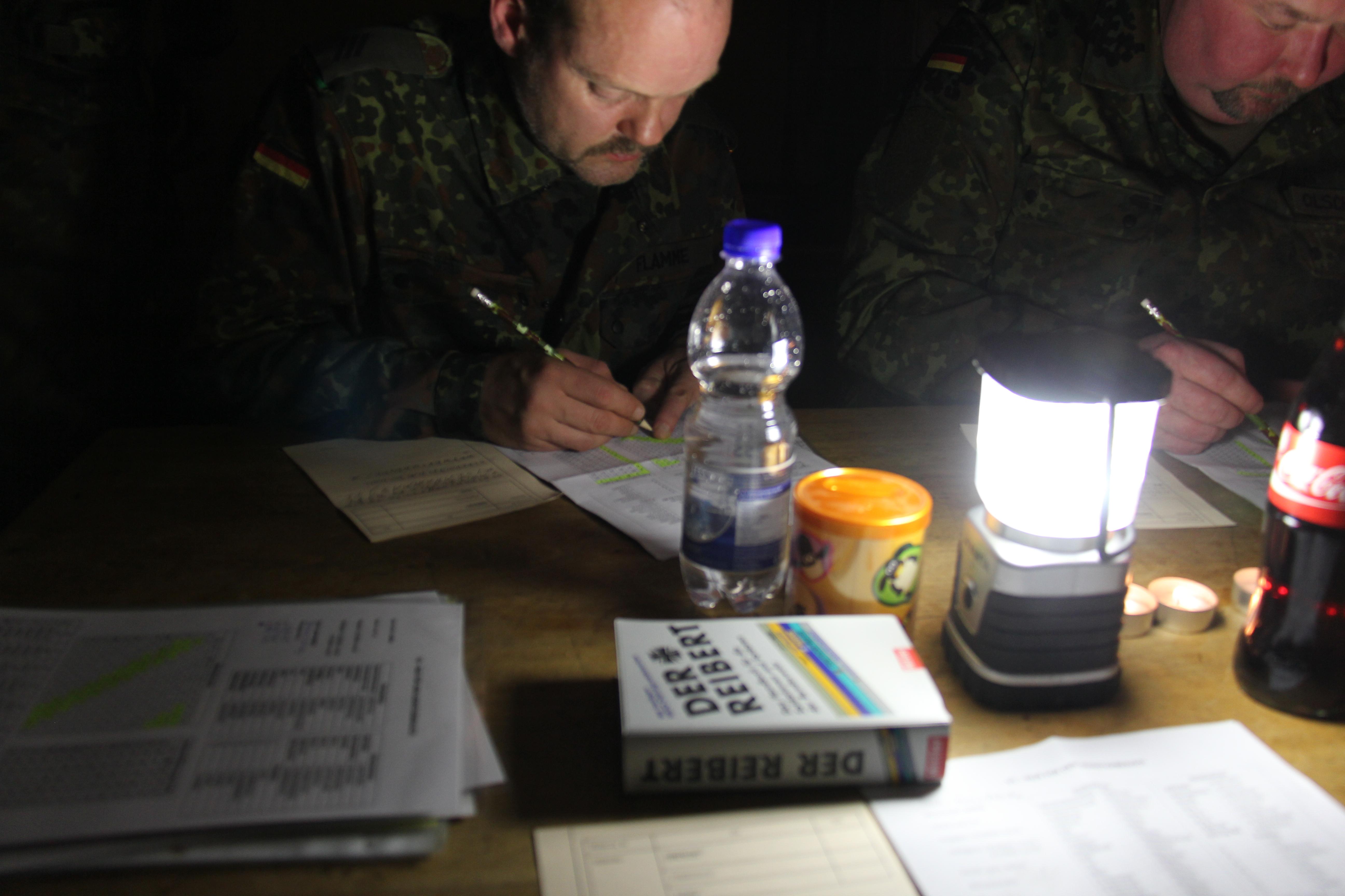 Ausbildung im Kerzenschein