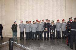 Die Abordnung aus Kassel mit Ere LtKol Declercq und der Feuerwehr YPERN