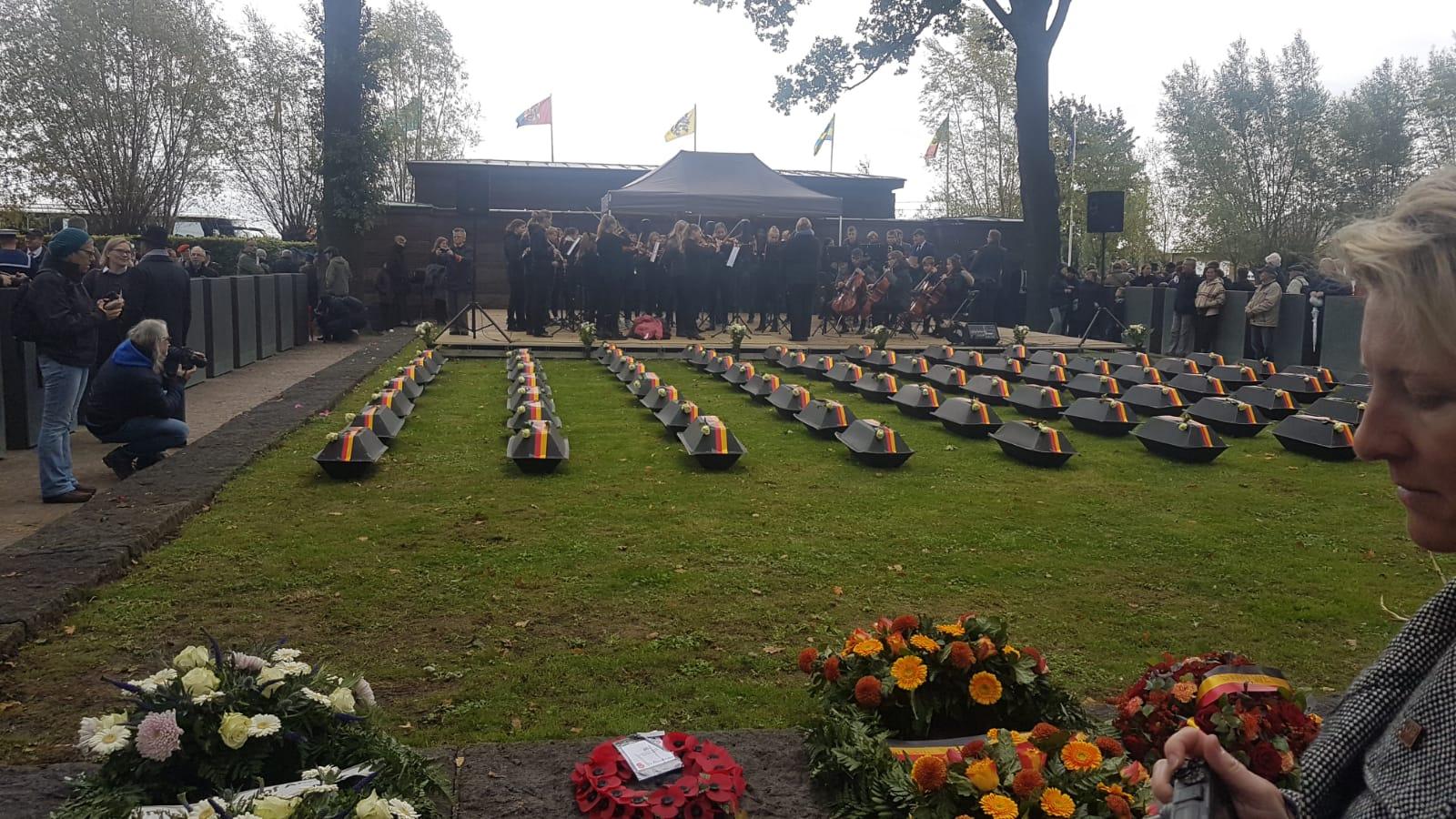 Über 60 deutsche Gefallene werden hier heute eingebettet