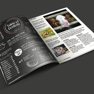 Magazine 2 page spread