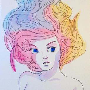 Watercolor Mermaid