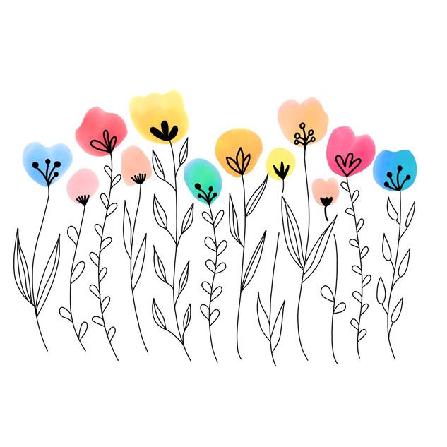 Thumbprint Flowers