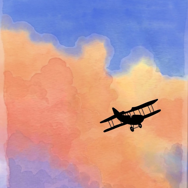 Watercolor Airplane