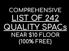 Most Comprehensive SPAC list on the Internet (100% Free)