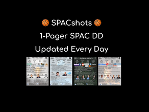 SPACshots 🏀 1 Page Due Diligence