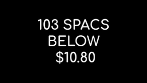 SPACdaddy guide to 103 SPACs below $10.80/share