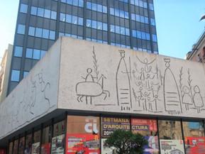 スペイン バルセロナ ピカソの壁画