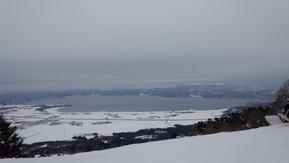 日本 福島県 猪苗代スキー 猪苗代湖