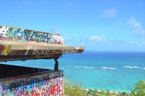 ハワイ オアフ島 ラニカイ・ピルボックス・トレイル