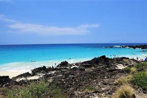 ハワイ ハワイ島 マニニオワリ・ビーチ (クア・ベイ)