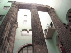 スペイン バルセロナ アウグストゥス神殿遺跡