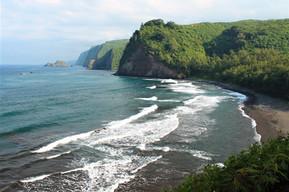 ハワイ ハワイ島 ポロル渓谷