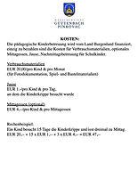 Gemeinde Güttenbach Kosten Kinderbetreuung 2021