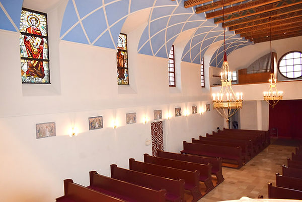 Kirche Hl. Josef Güttenbach Pinkovac von Kanzel betrachtet