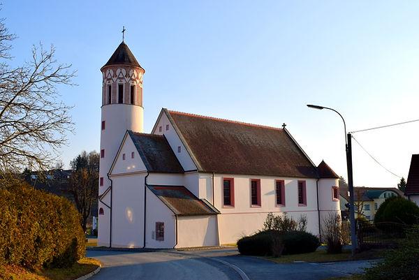 Kirche Güttenbach Pinkovac von Norden