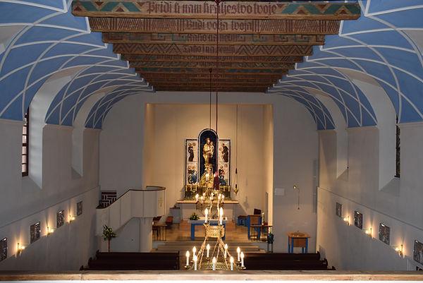 Kirche Hl. Josef Güttenbach Pinkovac innen, vom Chor gesehen