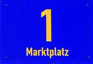 Schild Marktplatz 1