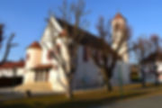 Kirche Hl. Josef Güttebach Pinkovac von der Straße betrachtet