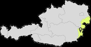 Österreich Karte mit Güttenbach