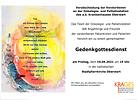 Gedenkgottesdienst Onkologie- und Palliativstation