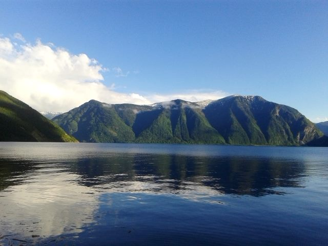 вид с кордона на озеро