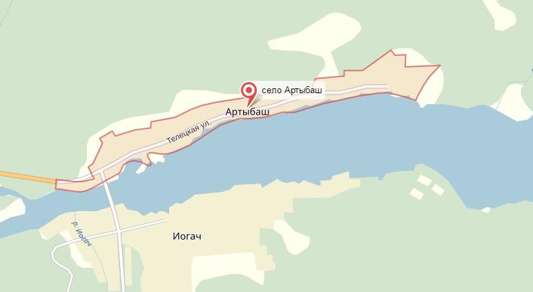 карта Артыбаш