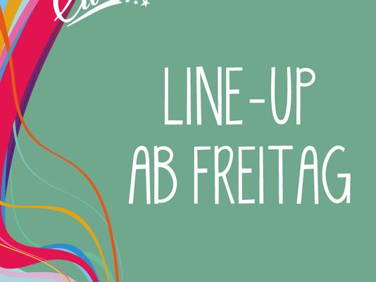 Die ersten Acts des diesjährigen Festivals ab Freitag!