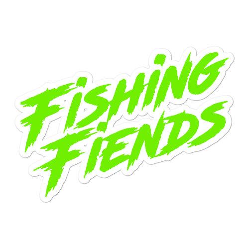 Fishing Fiends Green Logo Bubble-free stickers