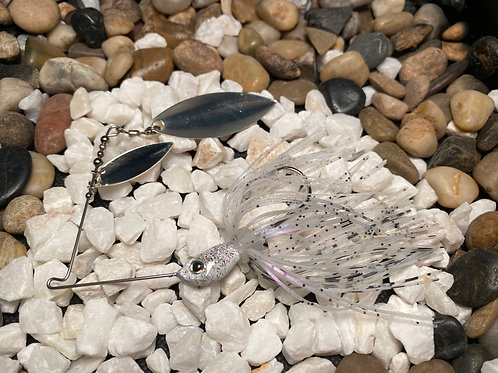 LOUSLURES® Black and White Speckled Spinner Bait