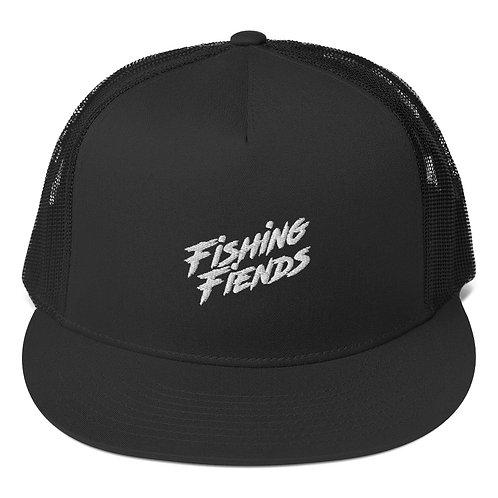 Fishing Fiends White Logo Trucker Cap