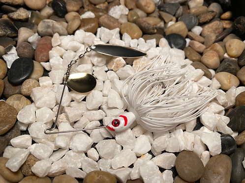 LOUSLURES® White Blood Gill Spinner Bait