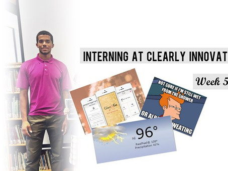 Interning at Clearly Innovative: Week 5
