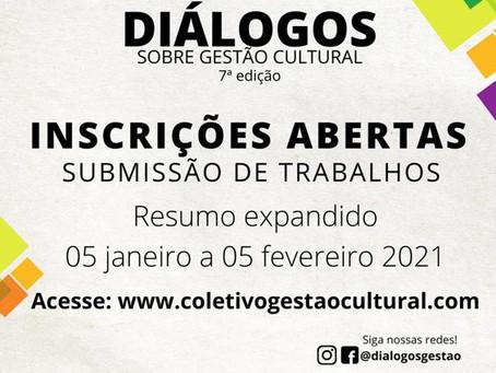 Diálogos sobre Gestão Cultural recebe resumos expandidos até 05/02
