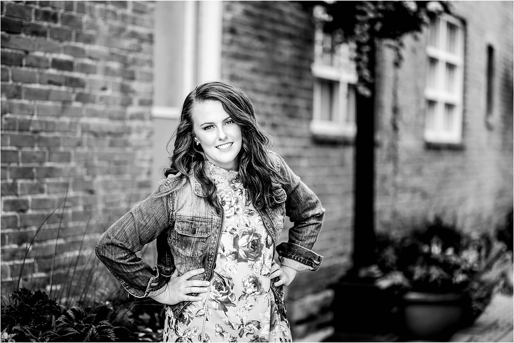 urban senior girl photography, Old Town Fort Collins Colorado