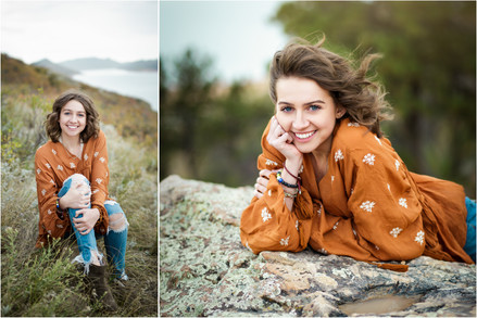 Fort Collins Senior Photographer / Natalie's Horsetooth and Hammock session - Rocky Mountain Hig