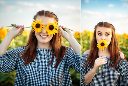 Sunflower Field, Emma's Senior Session - Loveland High School Senior photographer - Loveland Col