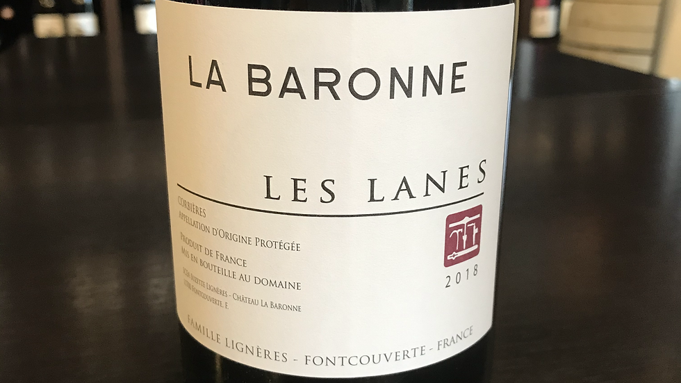 Corbières La Baronne Les Lanes 2018