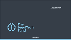 The LegalTech Fund Industry Briefing August 2020