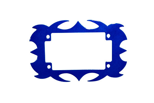 Plate Surround Metallic Blue