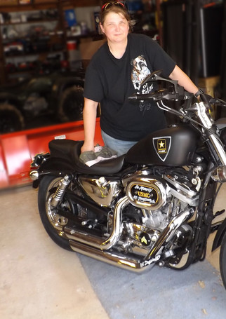 Jeanna with Her Bike