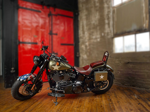 My bike has been transformed from a stock bike to an awesome eye catching machine that gets so many looks and great comments, I can barely get down the street. Thank you Hogtailz for the high quality parts and superior design work.  Tom H., Indiana