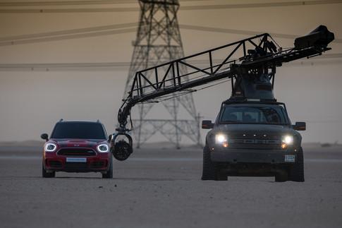 BTS BEHIND THE SCENE RED  CINEMA CRANE VIDEO PRODUCTION MINI DESERT DUBAI