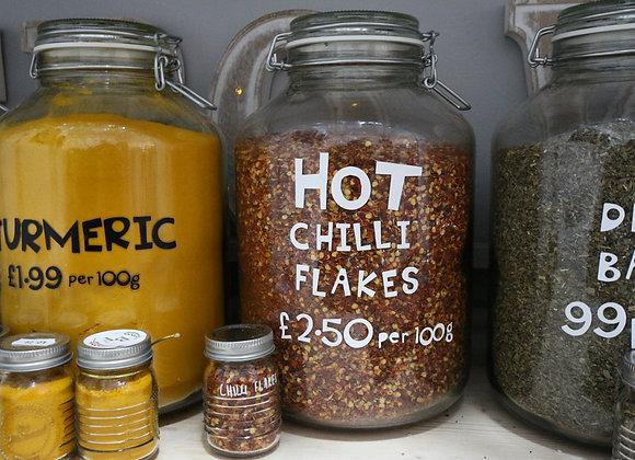Hot Chilli Flakes per 100g