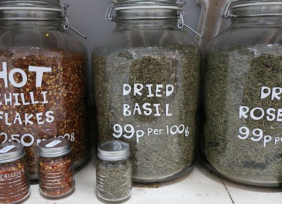Dried Basil per 100g