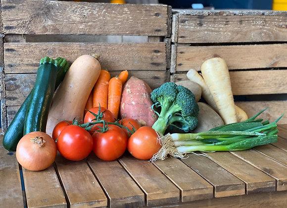 A selection of fresh seasonal vegetables