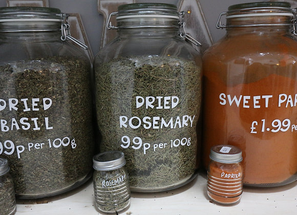 Dried Rosemary per 100g