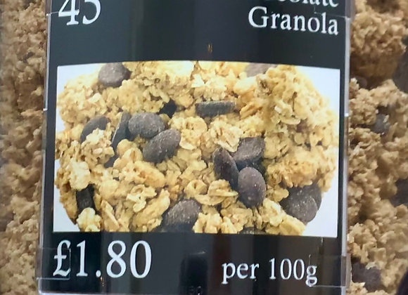 Dark Chocolate Granola per 100g