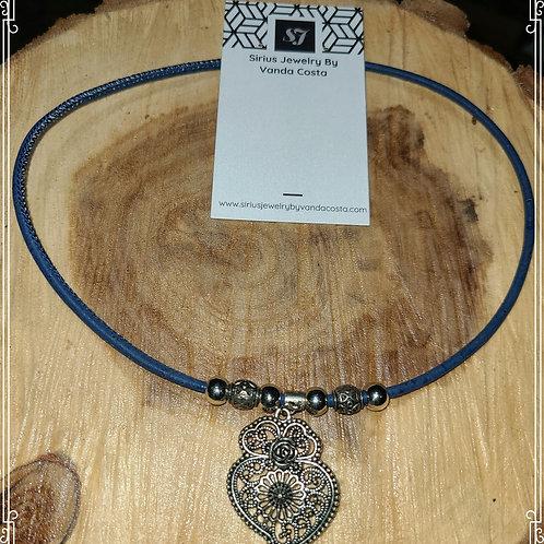 Cork choker necklace