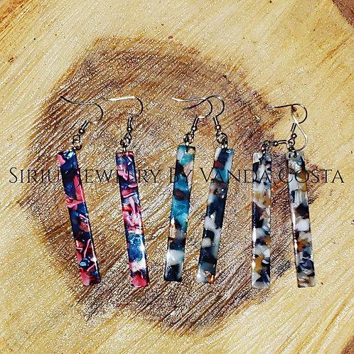 Long Resin Earrings